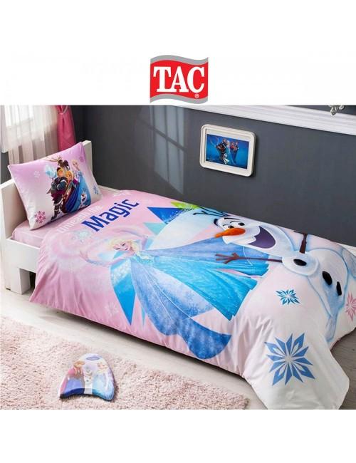 TAC Disney / Frozen-pink Лицензионные Комплекты детского постельного белья с героями из мультиков Ранфорс
