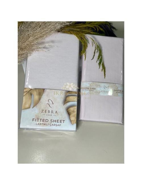 ZEBRA CASA / ПРОСТЫНЬ НА РЕЗИНКЕ (ЦВЕТ- Светло розовый)