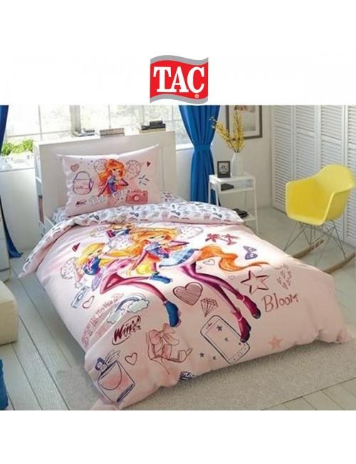TAC Disney / Winx Cosmix Лицензионные Комплекты детского постельного белья с героями из мультиков Ранфорс